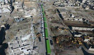 Konvoi Ke-22 dari Ghouta Timur Tiba di Al-Bab