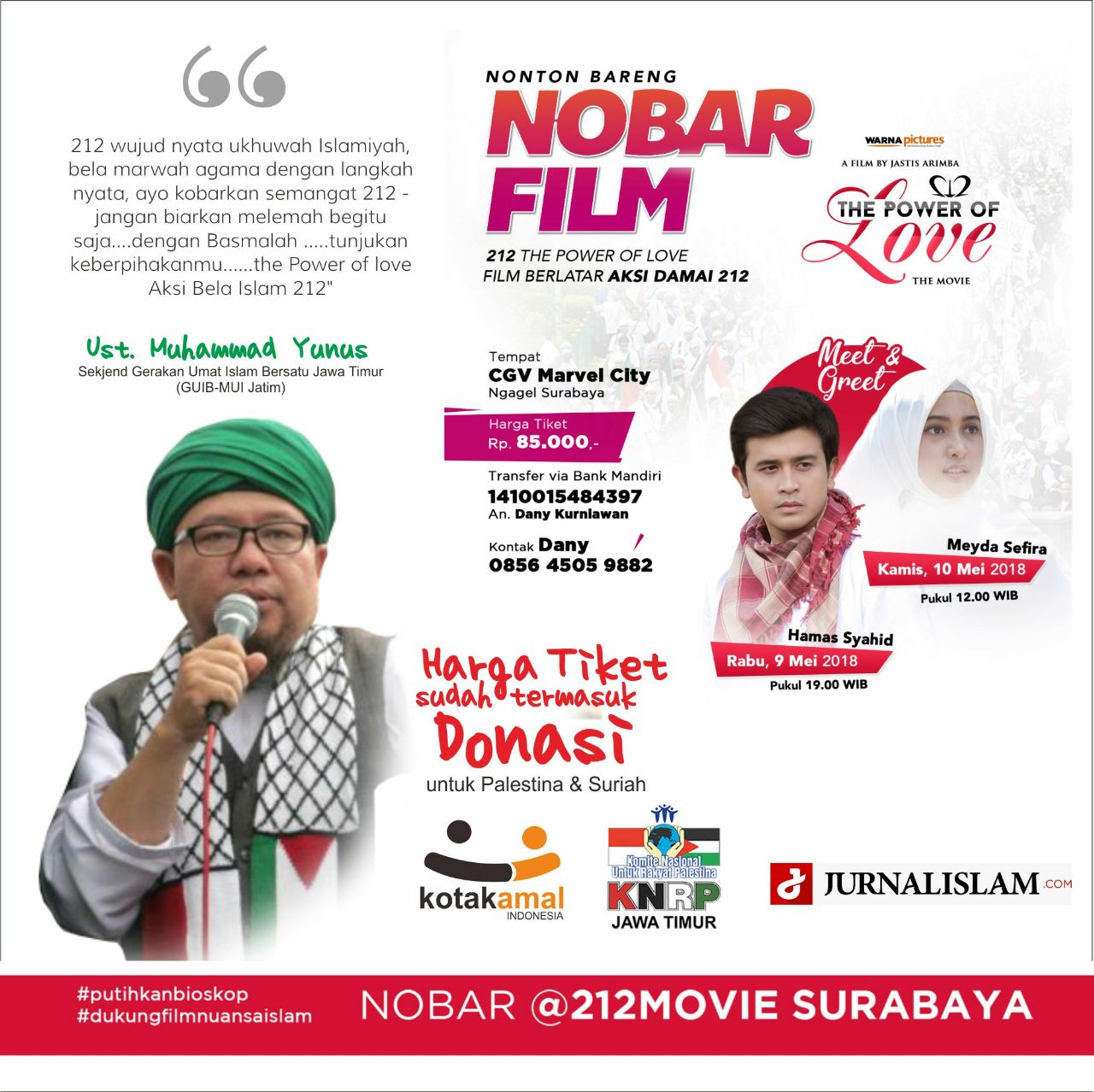 Meet & Greet Artis dan Nobar Film 212 The Power of Love di Surabaya