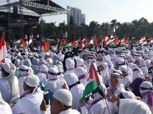 [FOTO] Suasana Aksi Bela Baitul Maqdis 115 di Monas