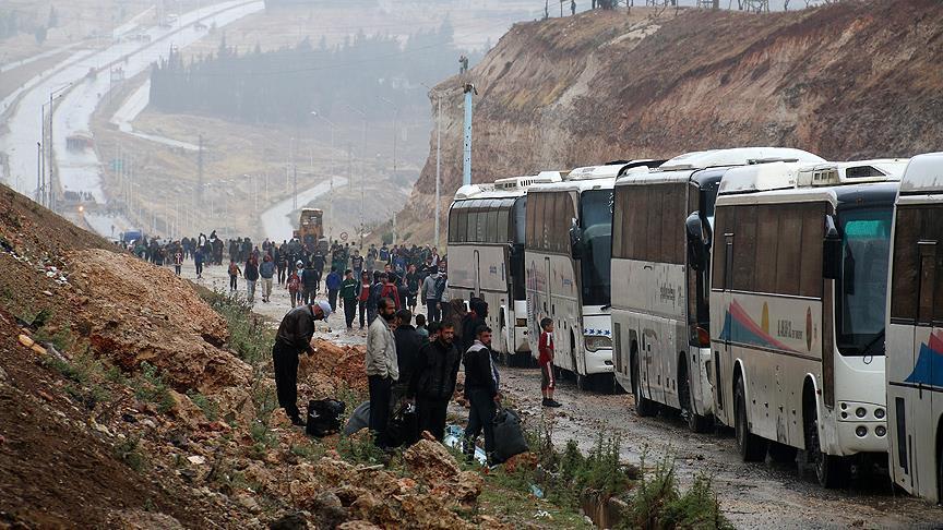 Konvoi Keenam Bawa 1.334 Warga Homs ke Provinsi Idlib