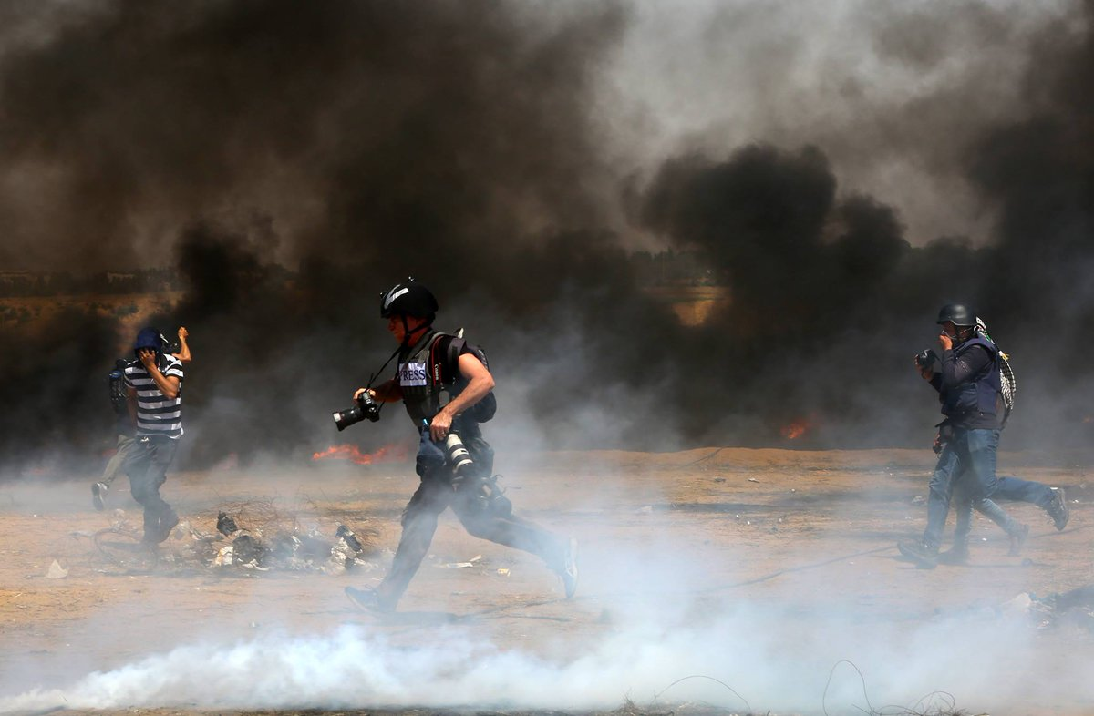 Pesawat Drone Israel Targetkan Wartawan yang Liput Aksi Protes di Gaza