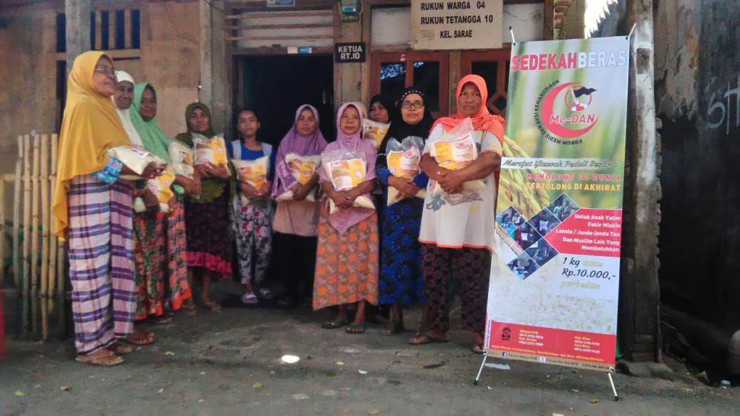 Forum Me-DAN Bima Distribusikan Paket Sembako Ramadhan