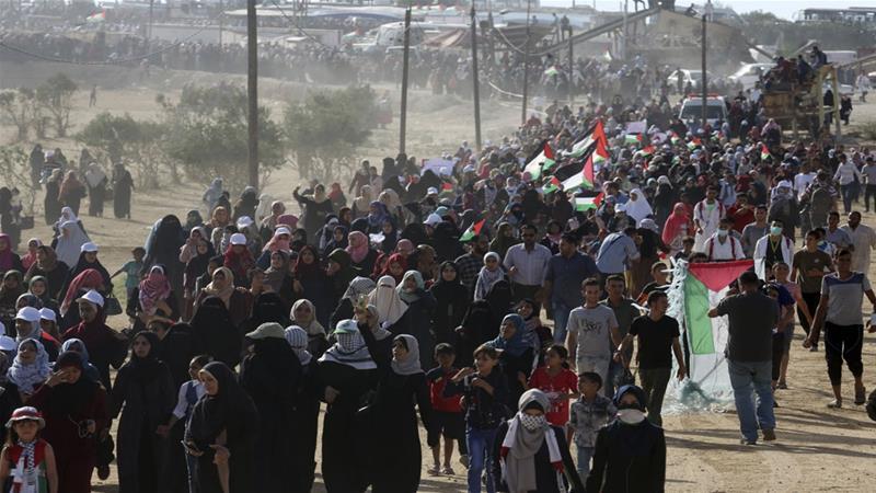 Ribuan Wanita Palestina Unjuk Rasa, 134 Terluka Ditembak Pasukan Israel