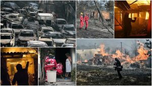 Kebakaran Yunani: Ribuan Rumah Hangus, Ratusan Mobil Hancur, 76 Tewas dan 100 Hilang