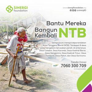 Respon Gempa Lombok, Sinergi Foundation Gandeng Forum Zakat Buka Help Center