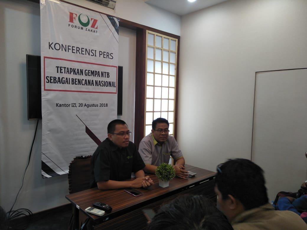 FOZ Desak Pemerintah Tetapkan Gempa NTB Sebagai Bencana Nasional