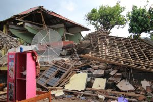 Foto Kondisi Salah Satu Desa Terdampak Gempa di Lombok Utara