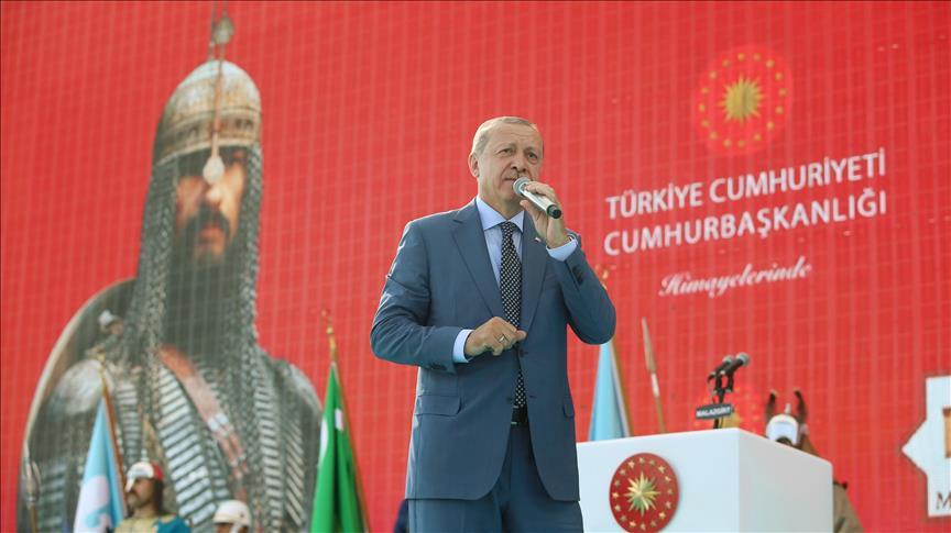 Rayakan Hari Pertempuran Malagirt ke-947, Erdogan Bicara Kejayaan Islam