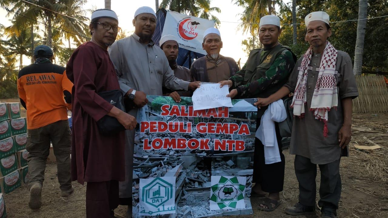 Yayasan Dakwah Salimah Salurkan Langsung Bantuan ke Lombok Utara