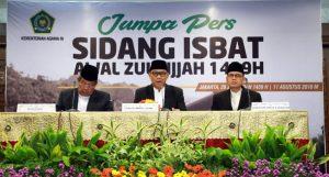 Pemerintah Tetapkan Idul Adha 1439 Hijriyah pada 22 Agustus 2018