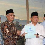 Prabowo-Sandi Kunjungi PP Muhammadiyah