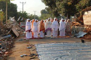 Idul Adha di Lombok Utara, Lebaran di Tengah Reruntuhan
