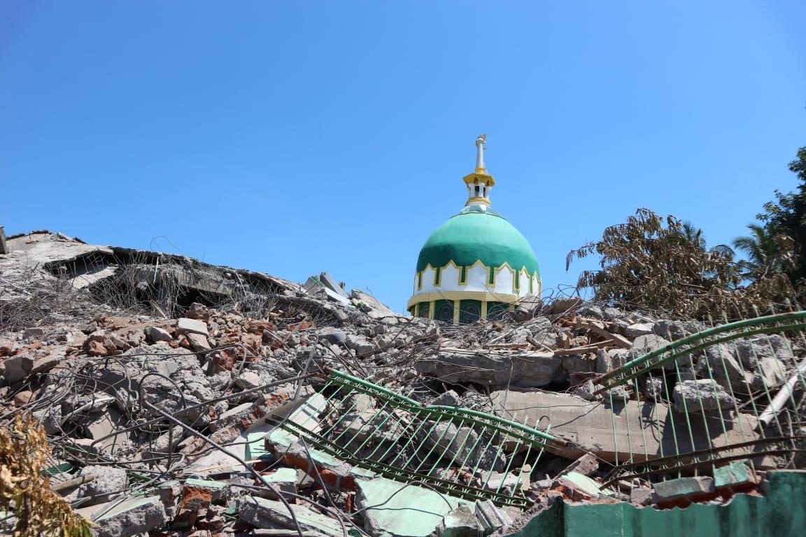Ambruk, Masjid di Lombok Utara Ini Belum Tersentuh Bantuan Pemerintah