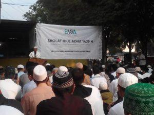 Badan Wakaf Al-Qur'an dan FKU Aswaja Malang Raya Gelar Shalat Idul Adha 1439 H