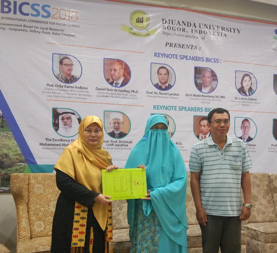 Dosen Universitas Ibn Khaldun Bogor Meraih Best Paper Award di Ajang Internasional Conference