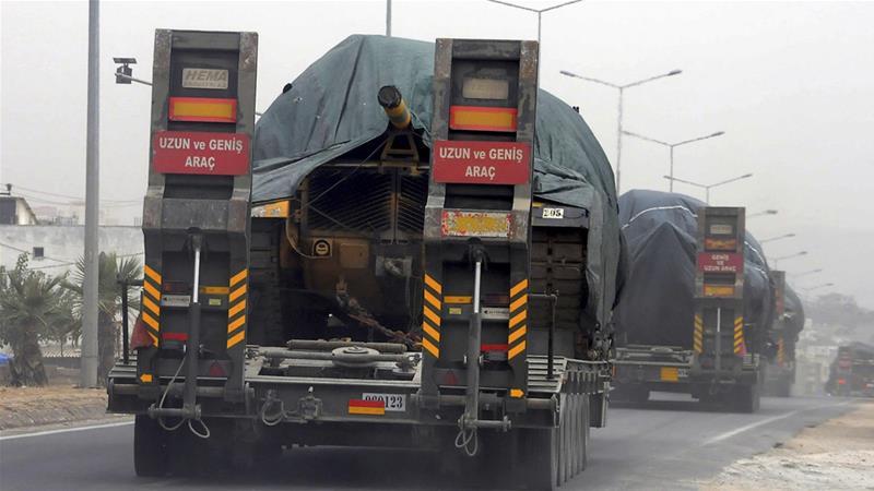 Turki Kerahkan Pasukan dan Persenjataan Beratnya ke Barat Daya Suriah