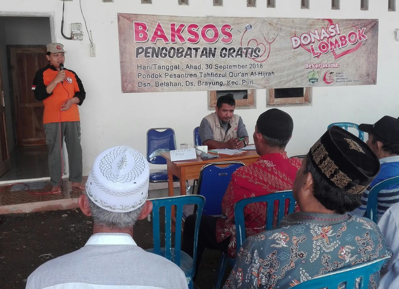 Forum Me-DAN Gelar Pengobatan Gratis di Mojokerto