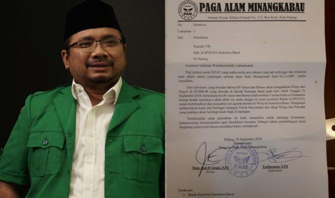 Masyarakat Minangkabau Minta Polisi Batalkan Kirab Satu Negeri GP Ansor