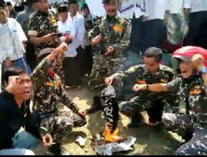Dua Anggota Banser Pembakar Bendera Tauhid Jadi Tersangka