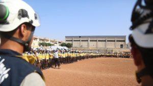Ratusan Relawan White Helmets Suriah Menuju Negara-negara Barat