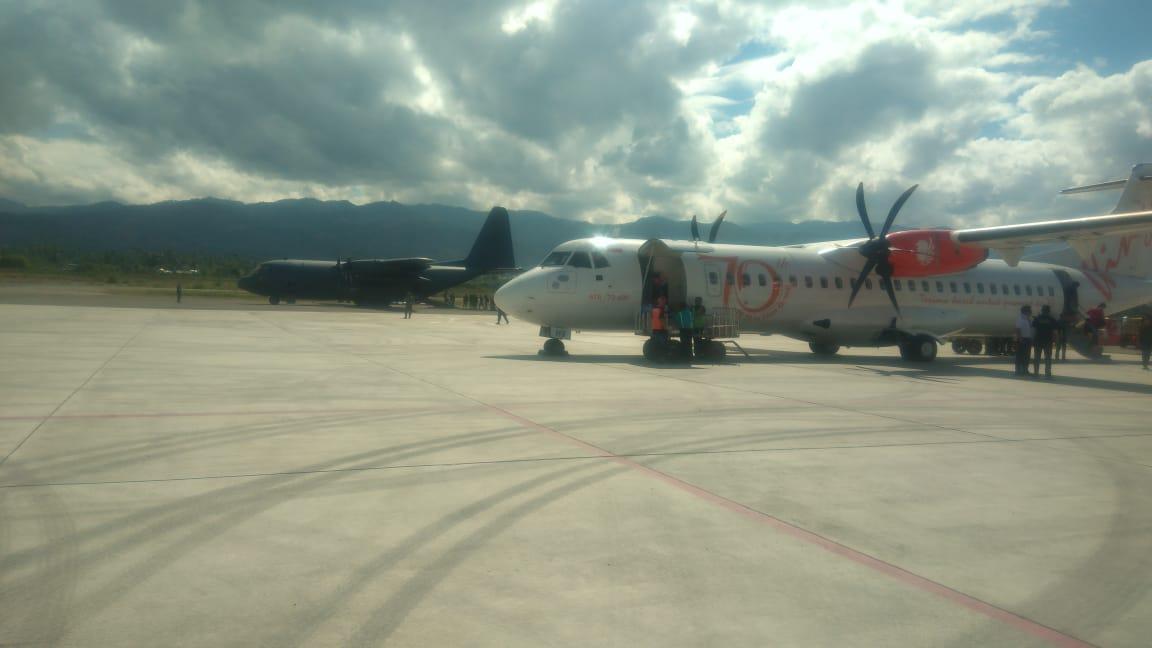Pesawat Komersil Sudah Mulai Beroperasi di Bandara Kota Palu
