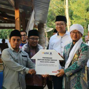 Aa Gym Resmikan Rumah Tangguh Lombok