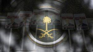 Inggris: Amnesti Internasional Dirikan Rambu Jalan Khashoggi di Luar Kedutaan Saudi