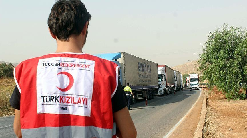 LSM Turki Kirim Lebih dari 42.000 Truk Bantuan Kemanusian ke Suriah