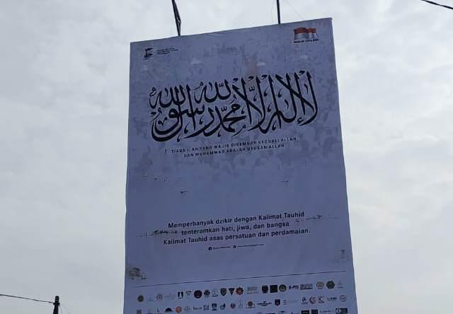 Pasang Baliho Lafadz Tauhid, Almumtaz: Ini Pesan Perdamaian dan Persatuan