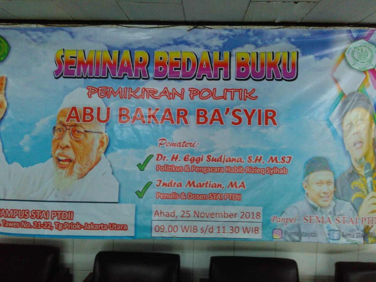 """Eggi Sudjana : """"Tidak Ada yang Salah dengan Pemikiran Politik Abu Bakar Ba'asyir"""""""