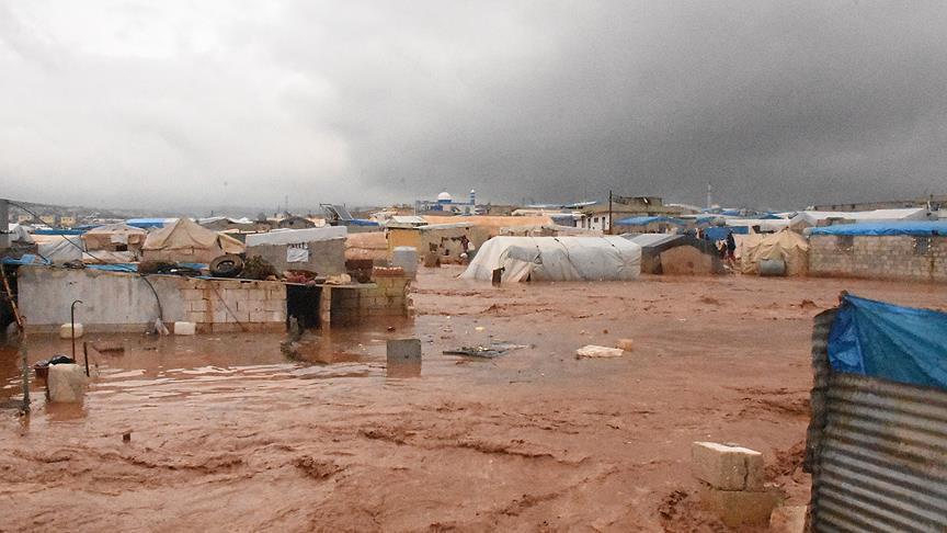 11 Kamp Pengungunsi di Idlib Dihantam Banjir Besar