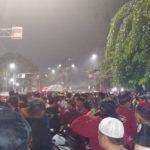 Ricuh! Banteng Muda Indonesia Pasang Spanduk Tolak Reuni Akbar 212 di Jakpus