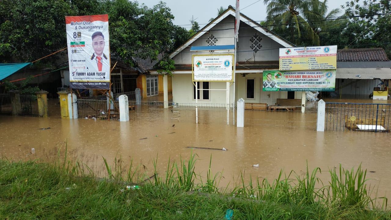 Curah Hujan Tinggi, 500 Rumah di Labuan, Pandeglang Terendam Banjir