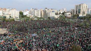 Serukan Persatuan, Milad Hamas ke-31 Dihadiri Ratusan Ribu Warga Palestina