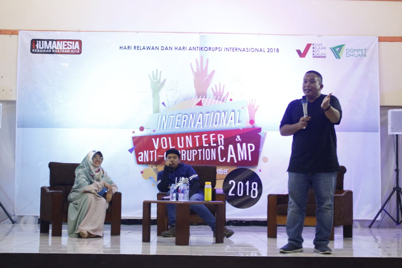 Relawan Dompet Dhuafa Meriahkan International Volunteer & Anticorruption Camp 2018 di Bandung