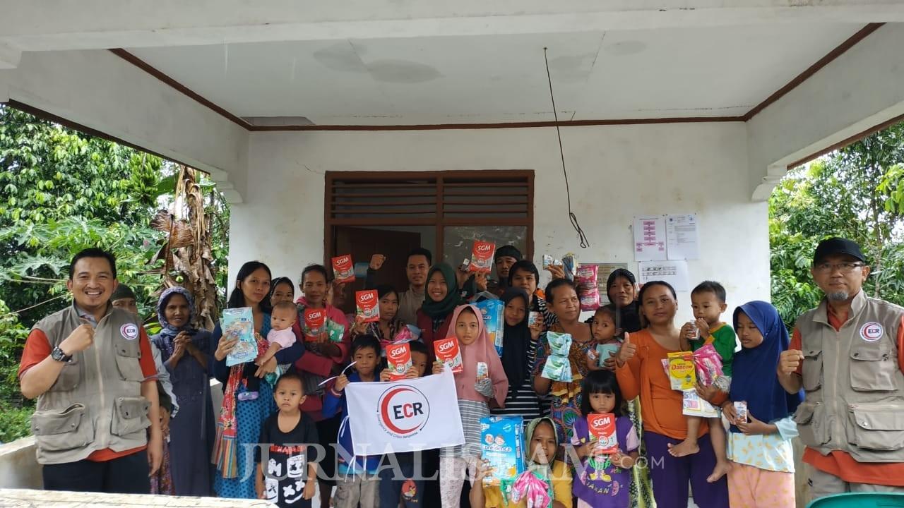 ECR dan IMH Serahkan Bantuan untuk Korban Tsunami di Pandeglang