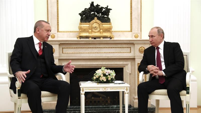 Erdogan dan Putin Bahas Hayat Tahrir al Sham di Moskow