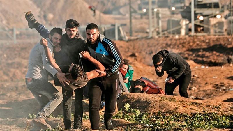 Pasukan Zionis Tembak Wanita Palestina Dikepala Saat Aksi Protes di Gaza