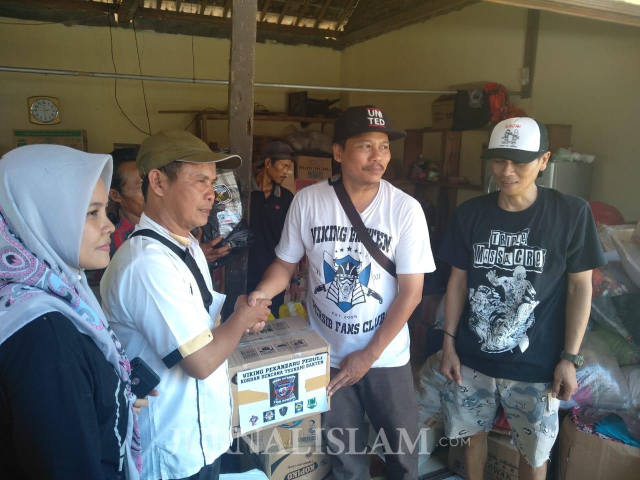 Viking Banten Berikan Bantuan untuk Korban Tsunami di Pandeglang