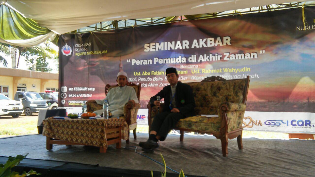 Diskusi Generasi Milenial dan Pemuda Akhir Zaman Digelar di Tasikmalaya