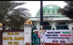 Warga Bima Resah terkait Spanduk Minta Pisahkan Masjid dan Politik