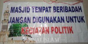 Maraknya Spanduk Tanpa Identitas soal Larangan Berpolitik Membuat Pengurus Masjid di Solo Resah