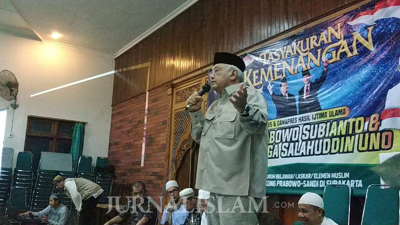 Ribuan Warga Soloraya Gelar Tasyakuran Kemenangan Prabowo-Sandi
