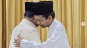 Mendengar Nasihat Ustaz Abdul Somad, Prabowo Menangis