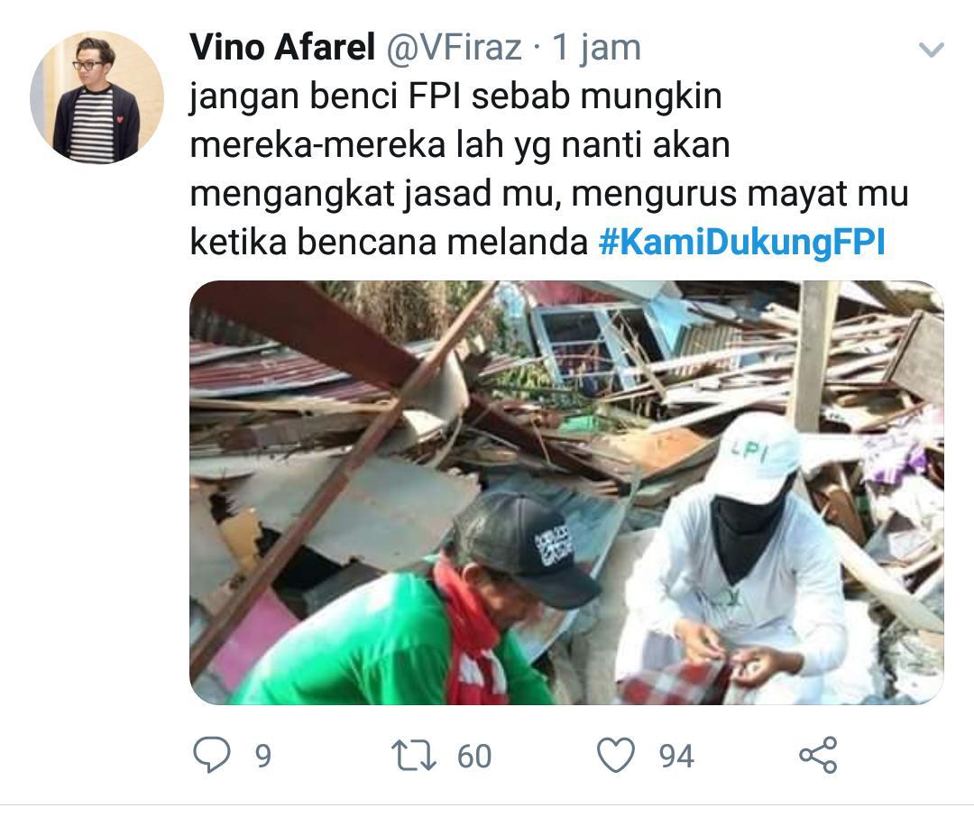 Tagar #KamiDukungFPI Puncaki Trending Topik Twitter Indonesia