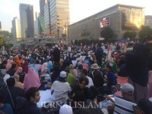 Massa Gerakan Nasional Kedaulatan Rakyat Tuntut Jokowi-Ma'ruf Didiskualifikasi