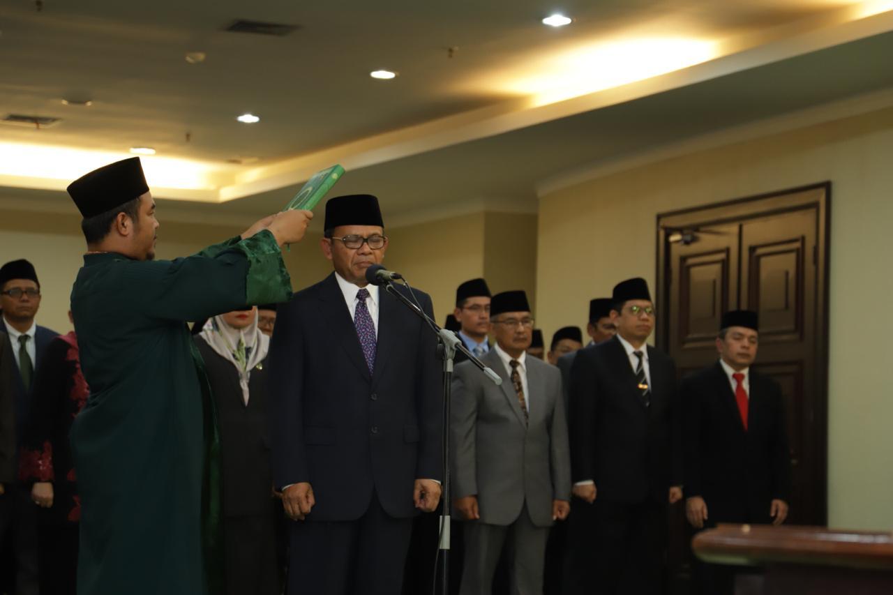 Menag Lantik Rektor Universitas Islam Internasional Indonesia (UIII)