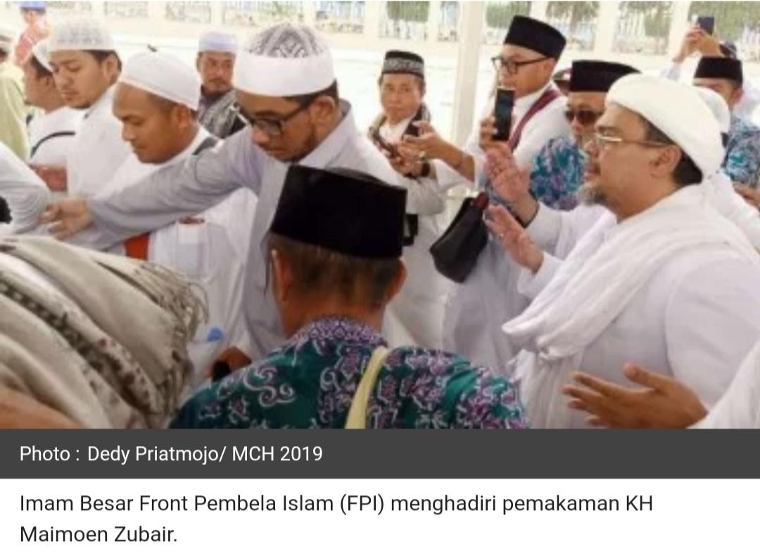 Putra Mbah Moen: Habib Rizieq Memang Diminta Keluarga Pimpin Doa