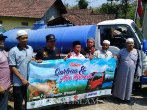 Elemen Umat Islam Soloraya Tebar Kurban di Wilayah Minim Air Bersih di Pelosok Wonogiri