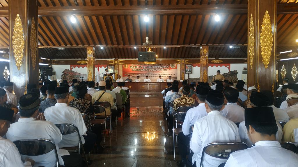 Musda ke-9 MUI Sukoharjo Bentuk Kepengurusan Periode 2019-2024